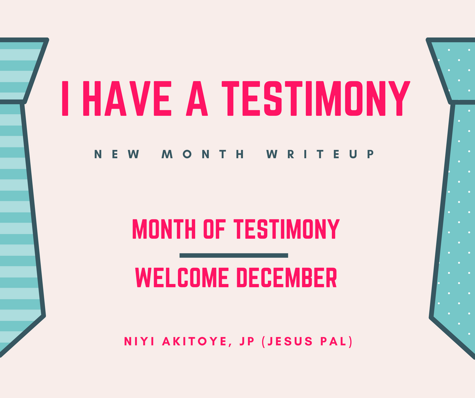 i have a testimony